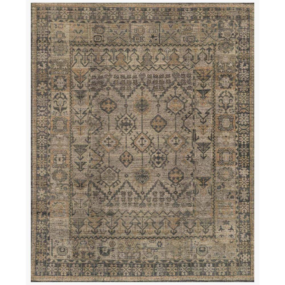 Ismael Global Grey Vintage Tribal Wool Rug 6x9 Kathy