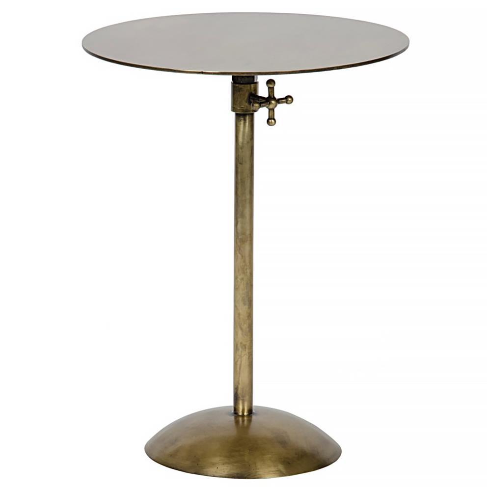 ahren industrial loft gold antique brass metal round side. Black Bedroom Furniture Sets. Home Design Ideas