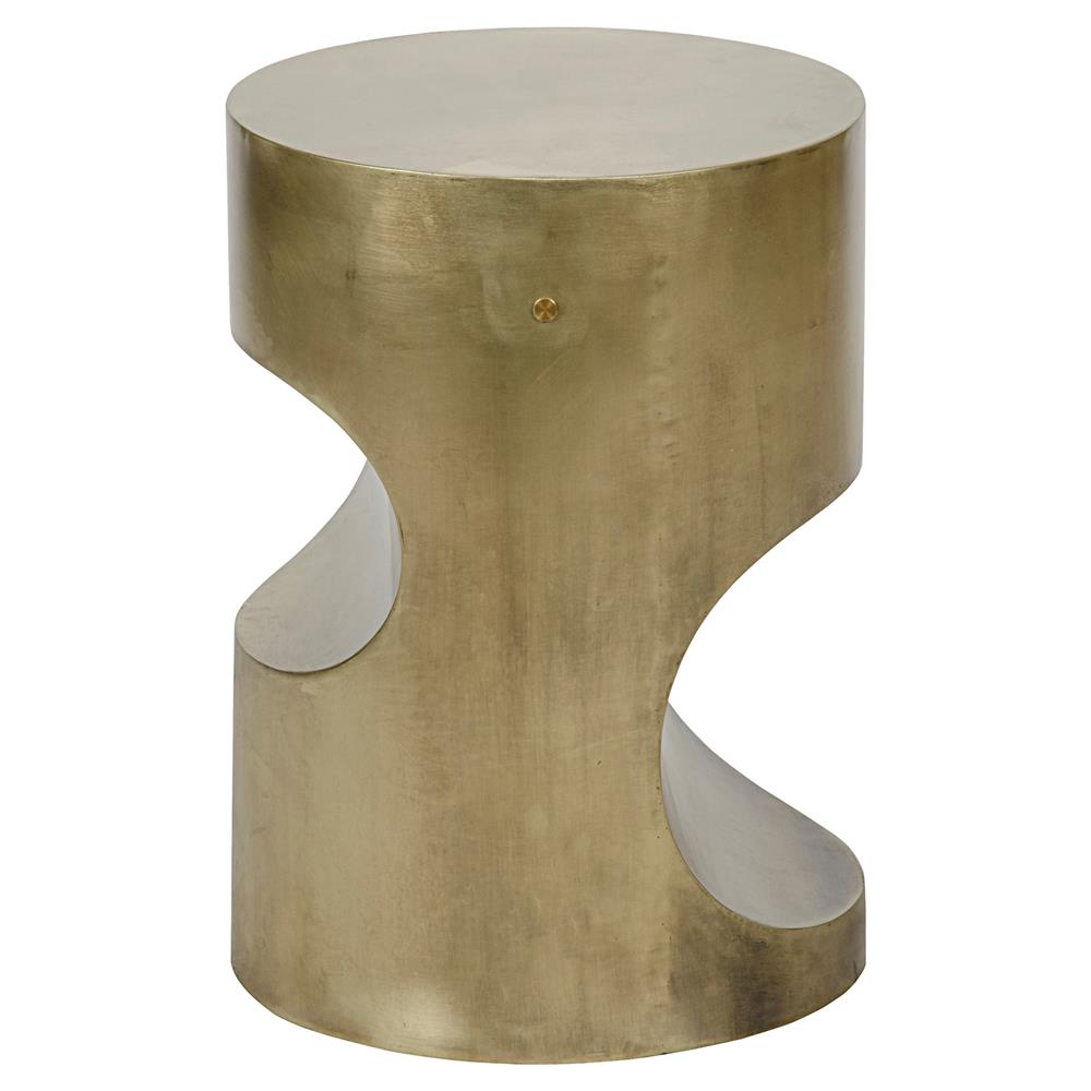 Hanna Modern Clic Gold Antique Br Cylinder Side Table Kathy Kuo Home