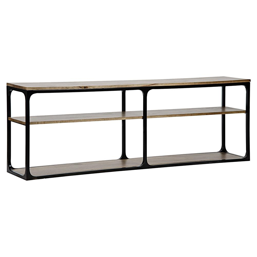 Console Tables With Picture Frames ~ Ashridge rustic dark walnut black metal frame console