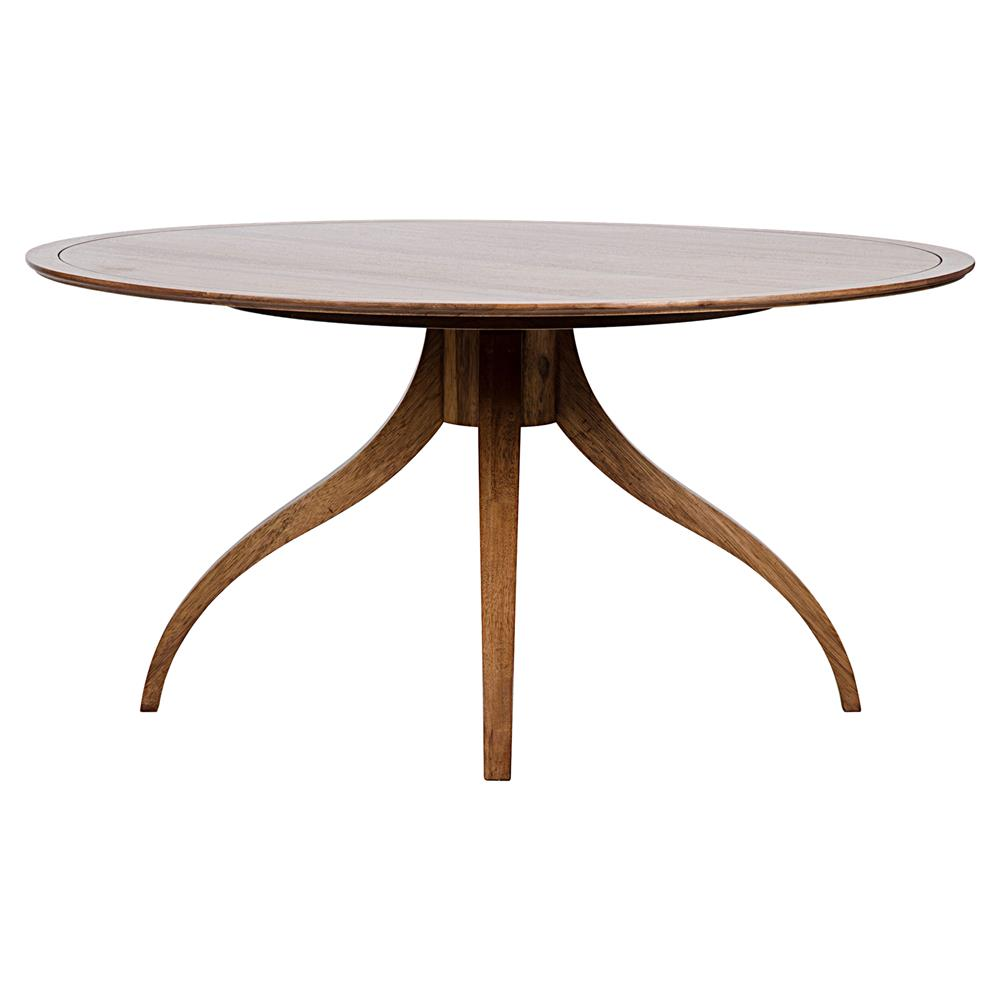 Brantley Modern Classic Dark Brown Walnut Round Dining Table | Kathy Kuo  Home