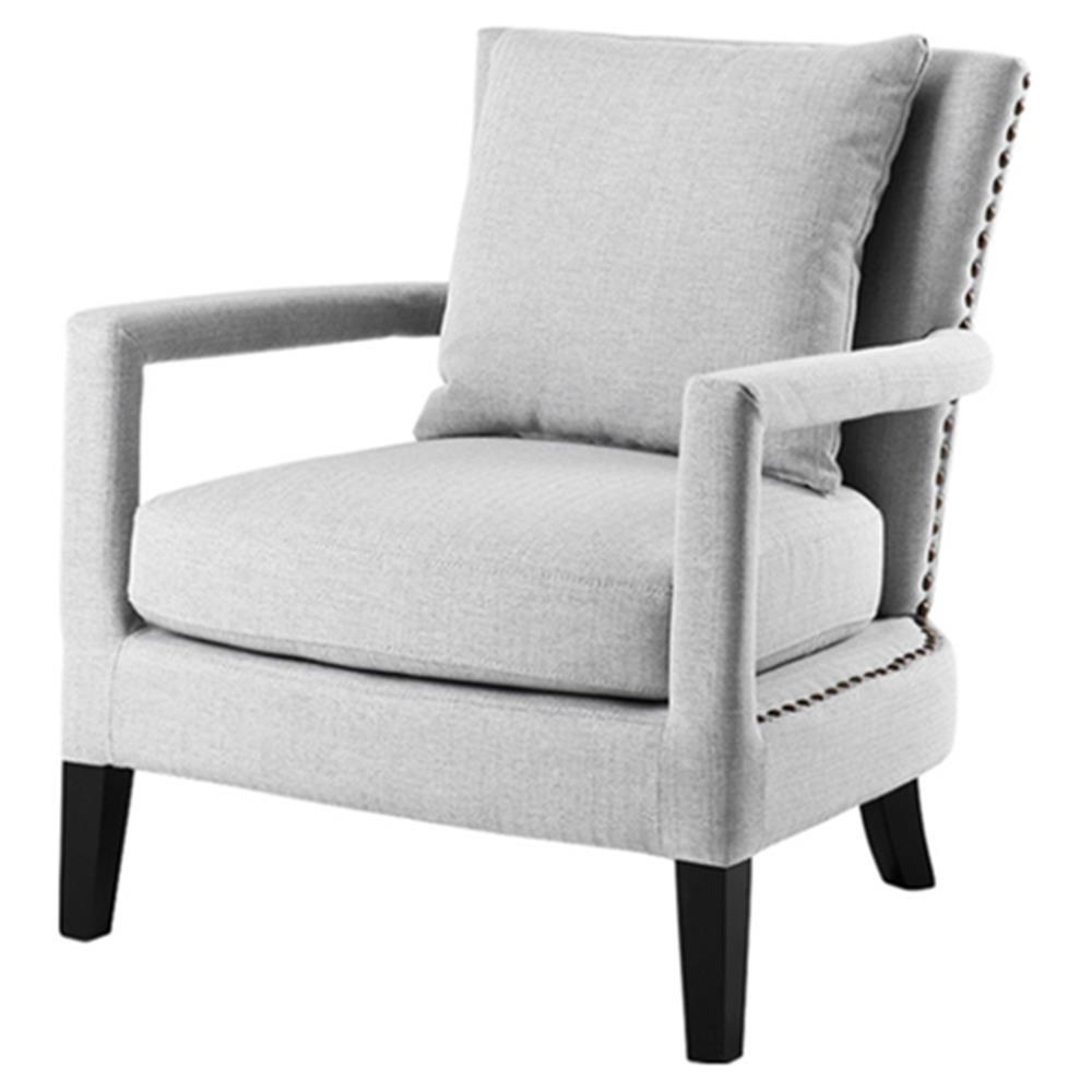 Ralphie modern grey herringbone upholstered living room chair - Modern upholstered living room chairs ...