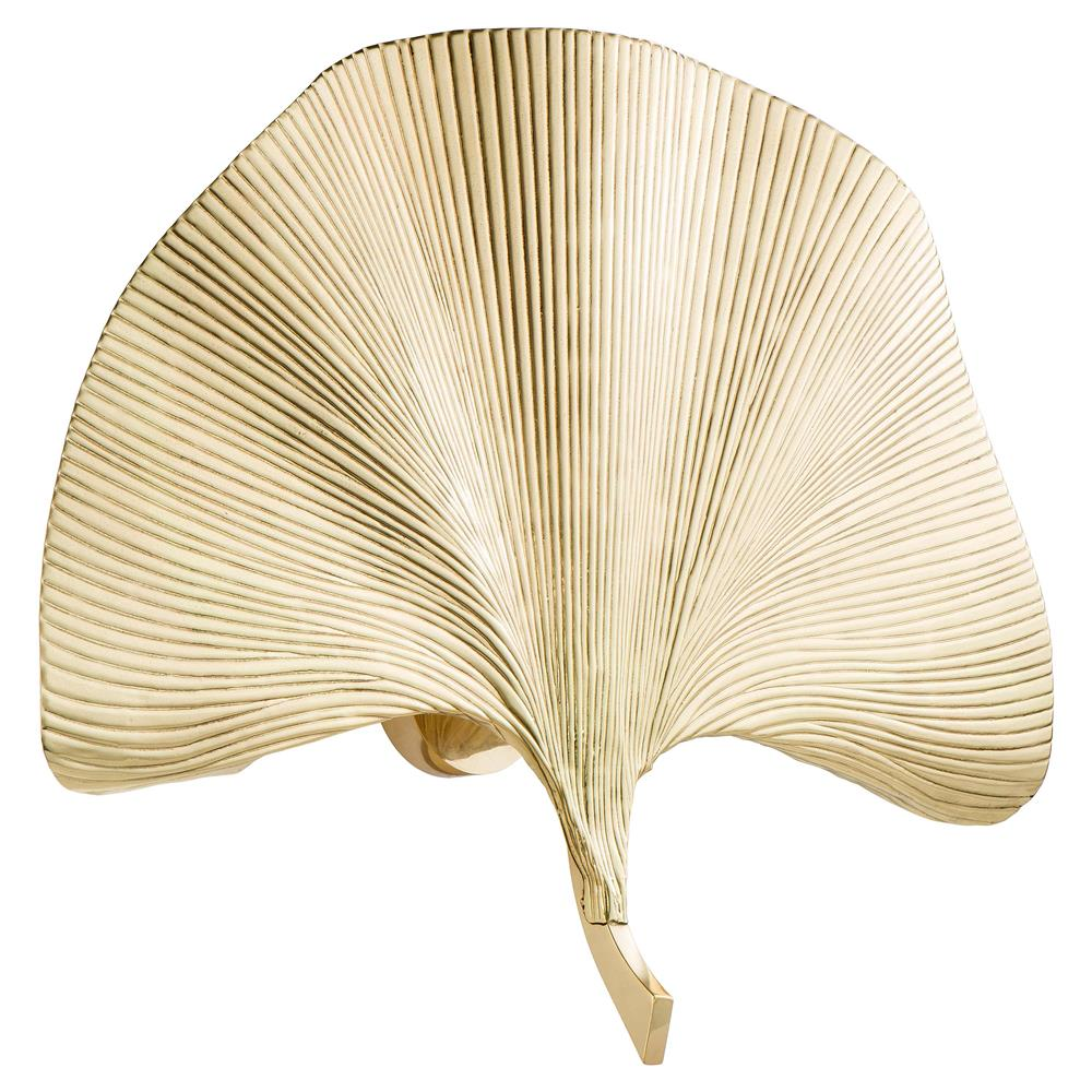 Eichholtz Eula Hollywood Regency Gold Gingko Leaf Wall Sconce