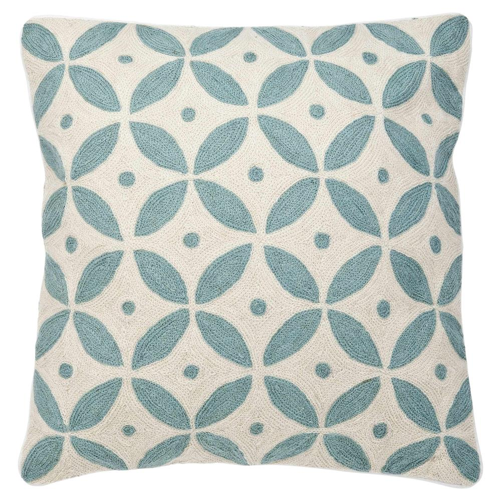 Round Blue Decorative Pillows : Eichholtz Modern Classic Blue Ivory Round Tile Decorative Pillow - 20x20