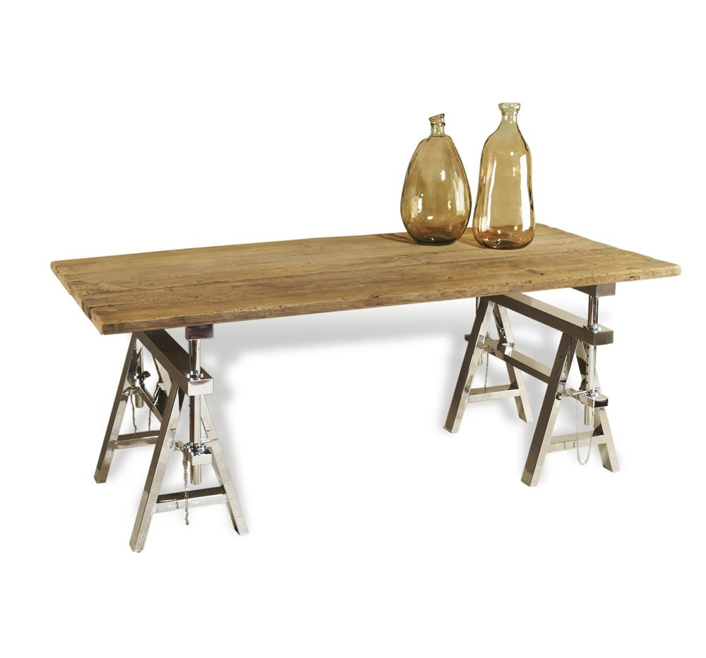 Dining table sawhorse dining table rustic Sawhorse desk legs