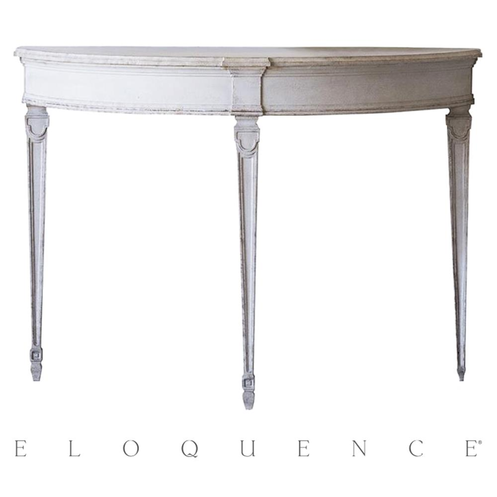 eloquence sophia magdalena demi lune console in gustavian. Black Bedroom Furniture Sets. Home Design Ideas