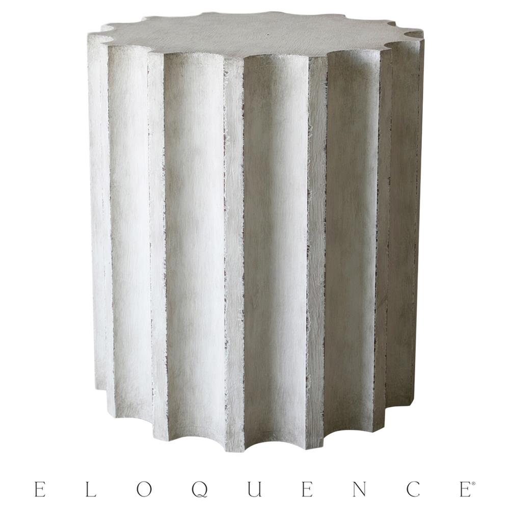 Eloquence column side table kathy kuo home for Table column
