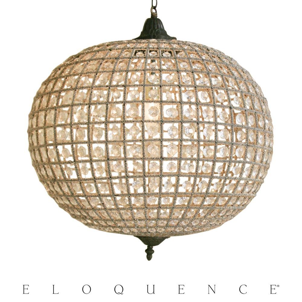 eloquence large globe chandelier kathy kuo home - Sphere Chandelier