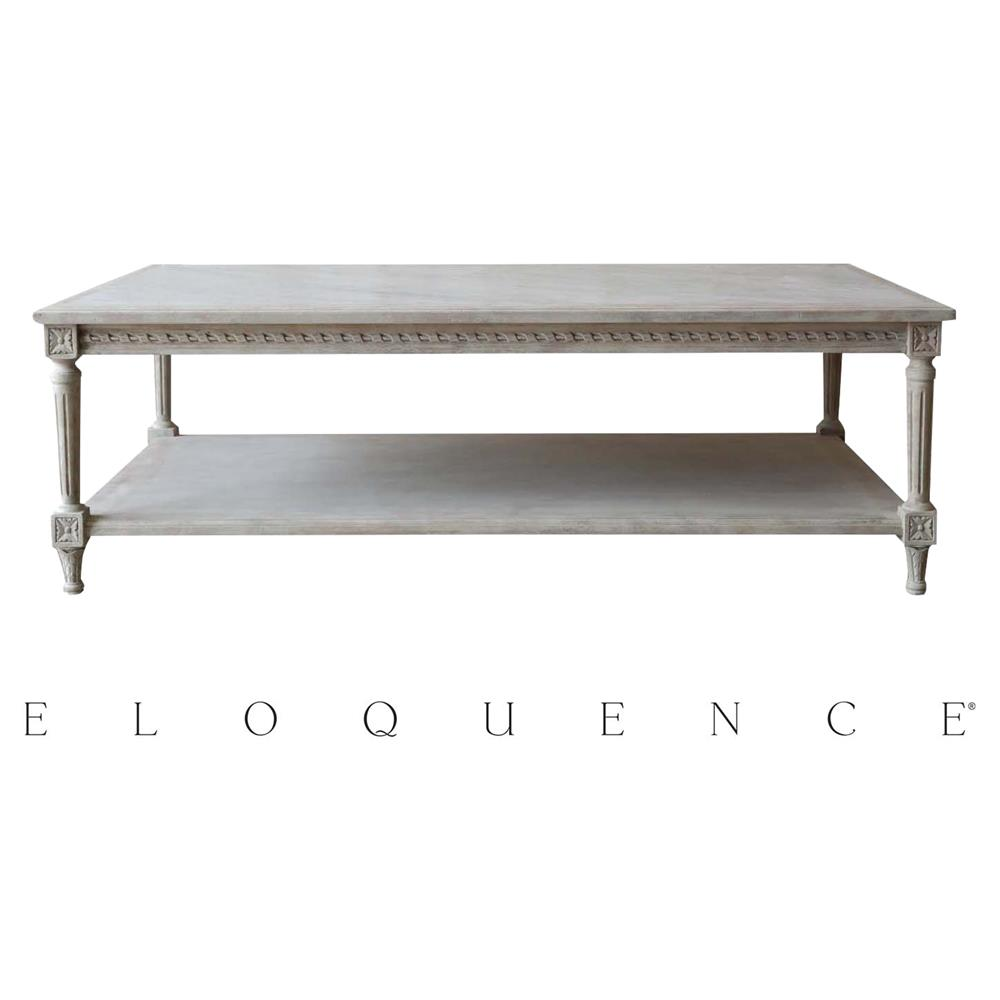 Eloquence Grande Le Courte Coffee Table In Beach House Natural Kathy Kuo Home