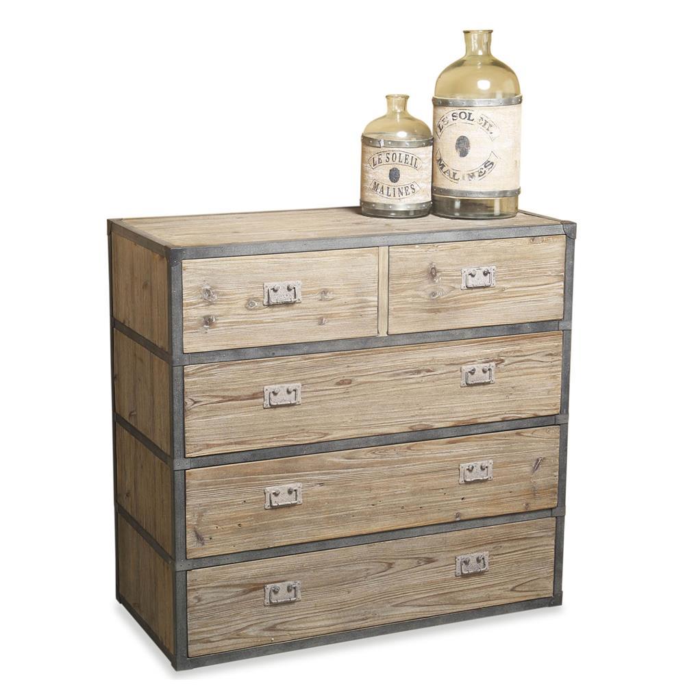 Henshaw Reclaimed Wood Iron Modern Rustic Chest Dresser
