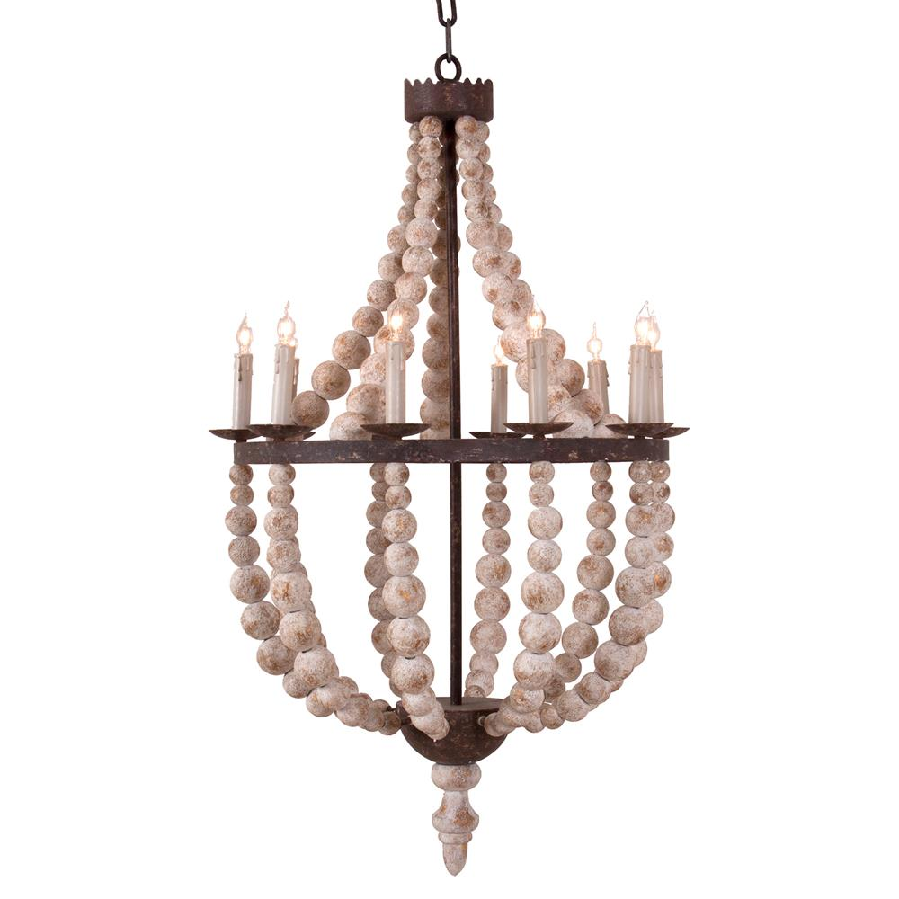 Jocelyn French Country Antique Gold Bulb Chandelier: french country chandelier