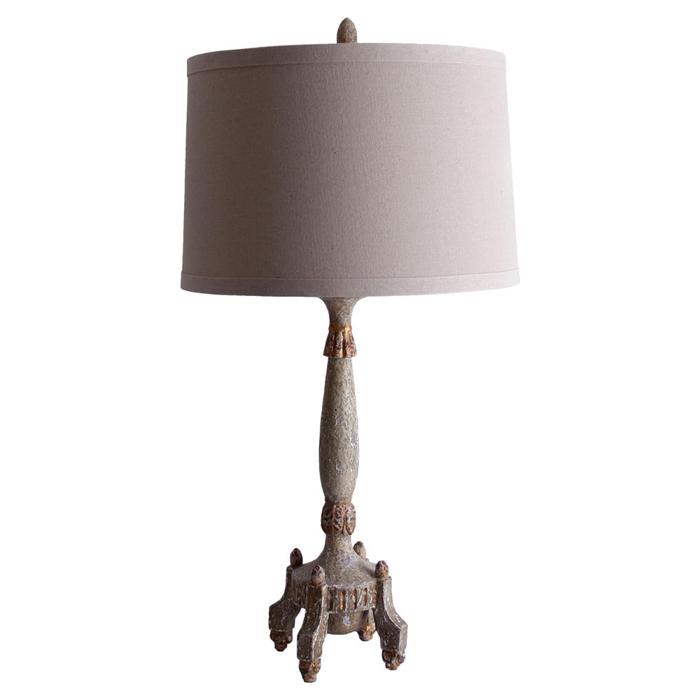 table lamps annselm french country swedish candlestick grey table lamp. Black Bedroom Furniture Sets. Home Design Ideas