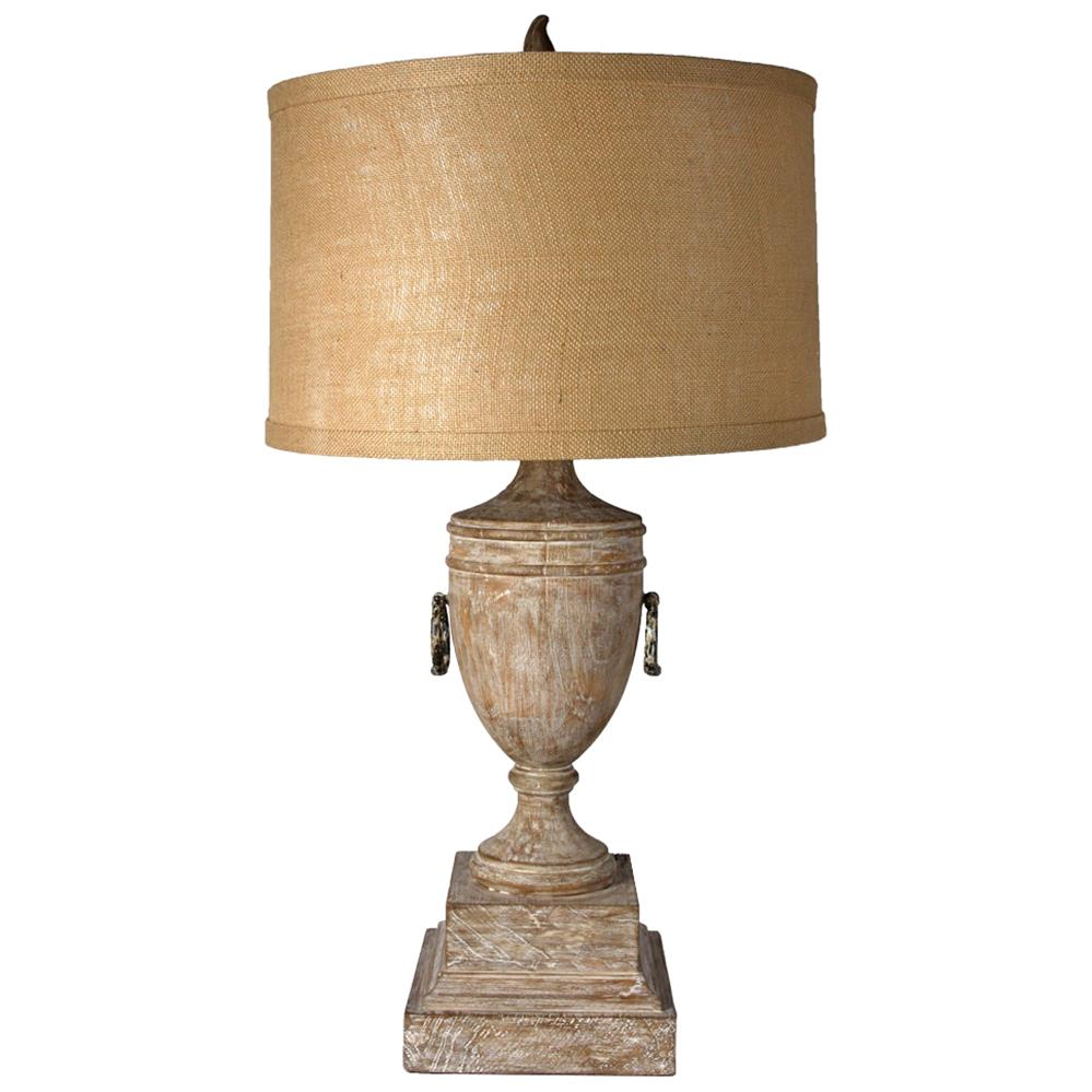 Crescentia French Country Brown Urn Table Lamp