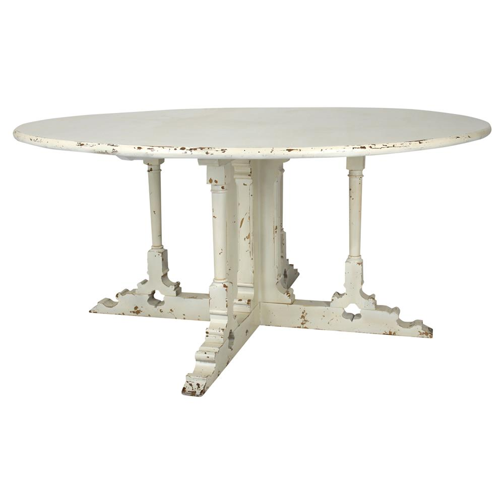 Fontaine french antique ivory round dining table kathy for French round dining table