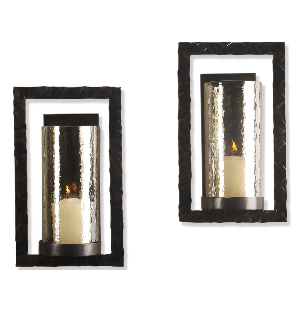 Pair tomar contemporary oiled bronze rectangle wall sconce kathy pair tomar contemporary oiled bronze rectangle wall sconce kathy kuo home mozeypictures Images