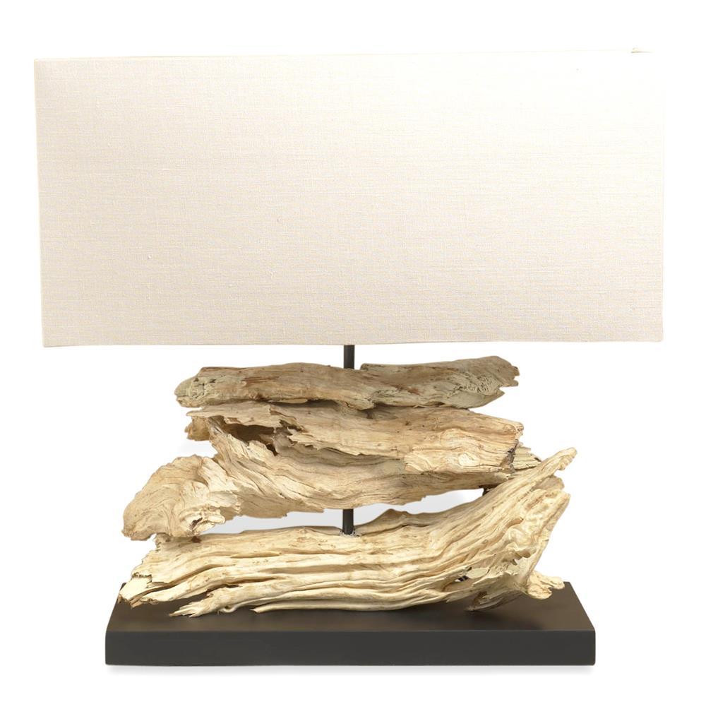 home lighting table lamps lashio modern driftwood lamp. Black Bedroom Furniture Sets. Home Design Ideas