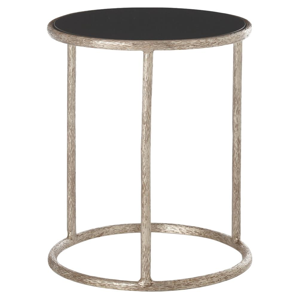 shad global silver tree black marble end table kathy kuo. Black Bedroom Furniture Sets. Home Design Ideas
