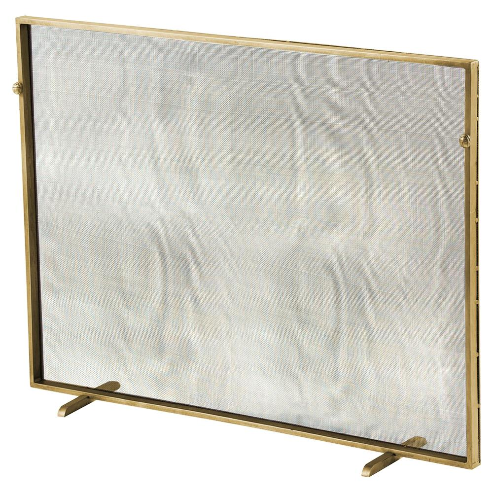 modern classic simple iron fireplace screen gold kathy kuo home