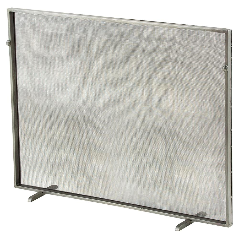 modern classic simple iron fireplace screen silver