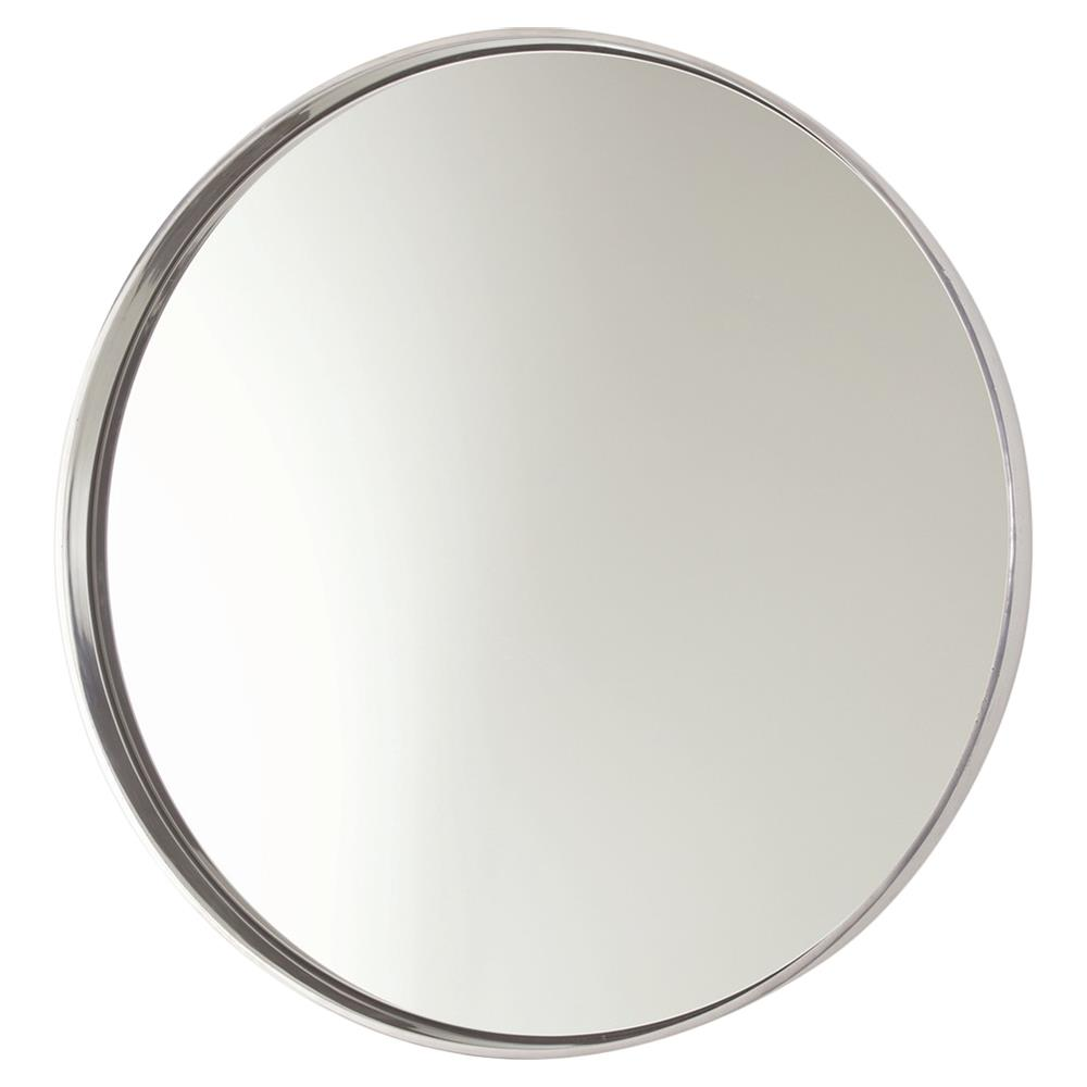 Obsie Modern Simple Round Ring Mirror Silver Kathy Kuo