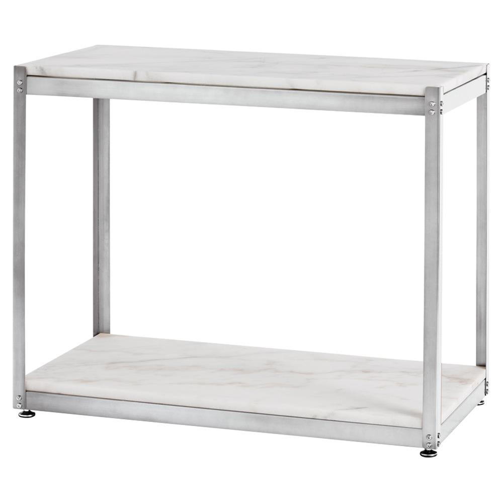 Clip Industrial White Marble Steel Console Table Kathy