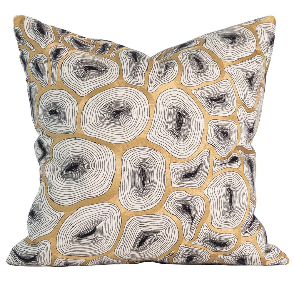 Modern Ring Pillows : Maple Modern Gold Agate Ring Pillow - 20x20 Kathy Kuo Home