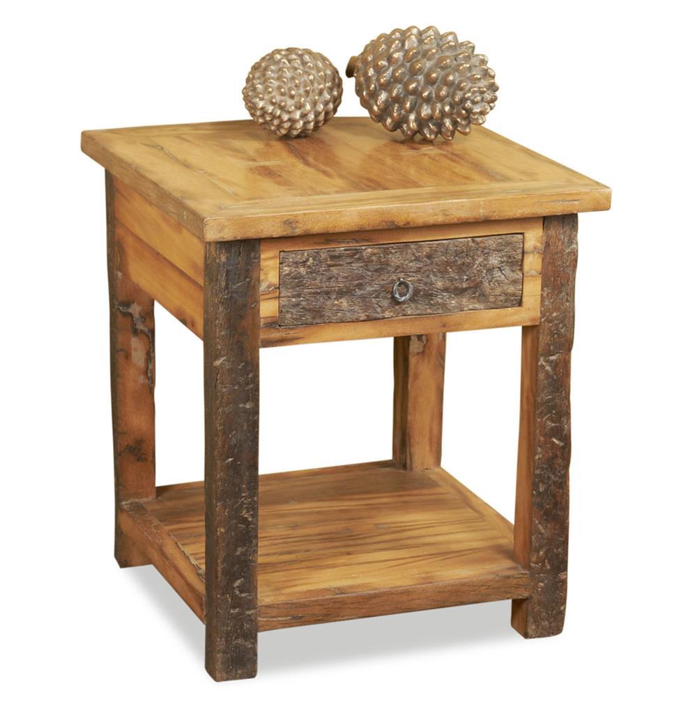 Fyde Peak Reclaimed Wood Lodge Cabin Side Table Kathy