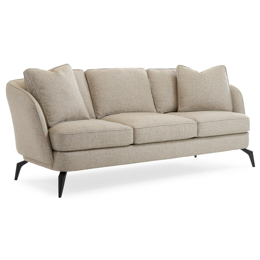 Dashiel Tailored French Modern Grey Textured Sofa | Kathy ... - photo#3