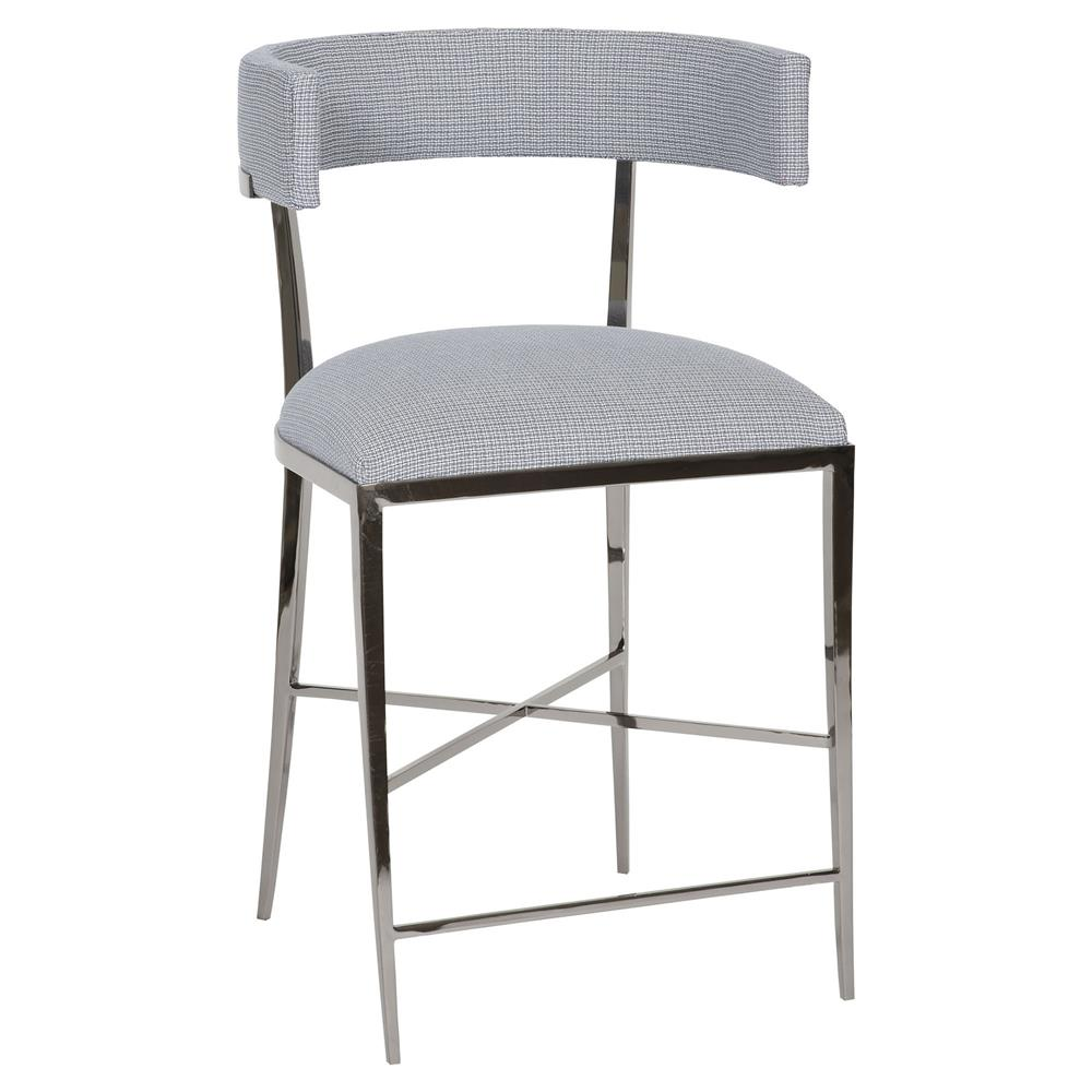 Wondrous Vanguard Greer Classic Rounded Silver Navy Pattern Counter Stool Alphanode Cool Chair Designs And Ideas Alphanodeonline