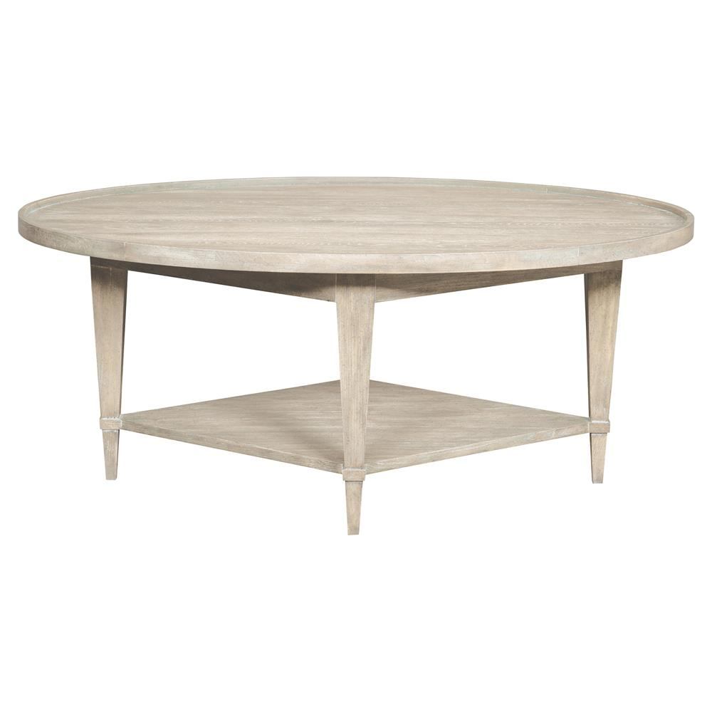 Coffee Tables Faine Coastal Rustic White Cedar Oval Coffee Table