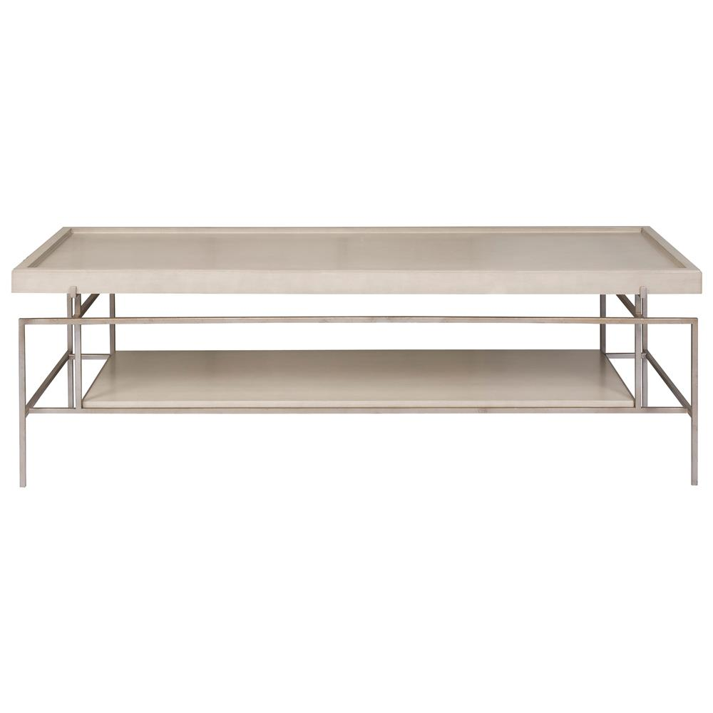 Forno grey rectangle tray slender bronze coffee table kathy kuo home Bronze coffee tables