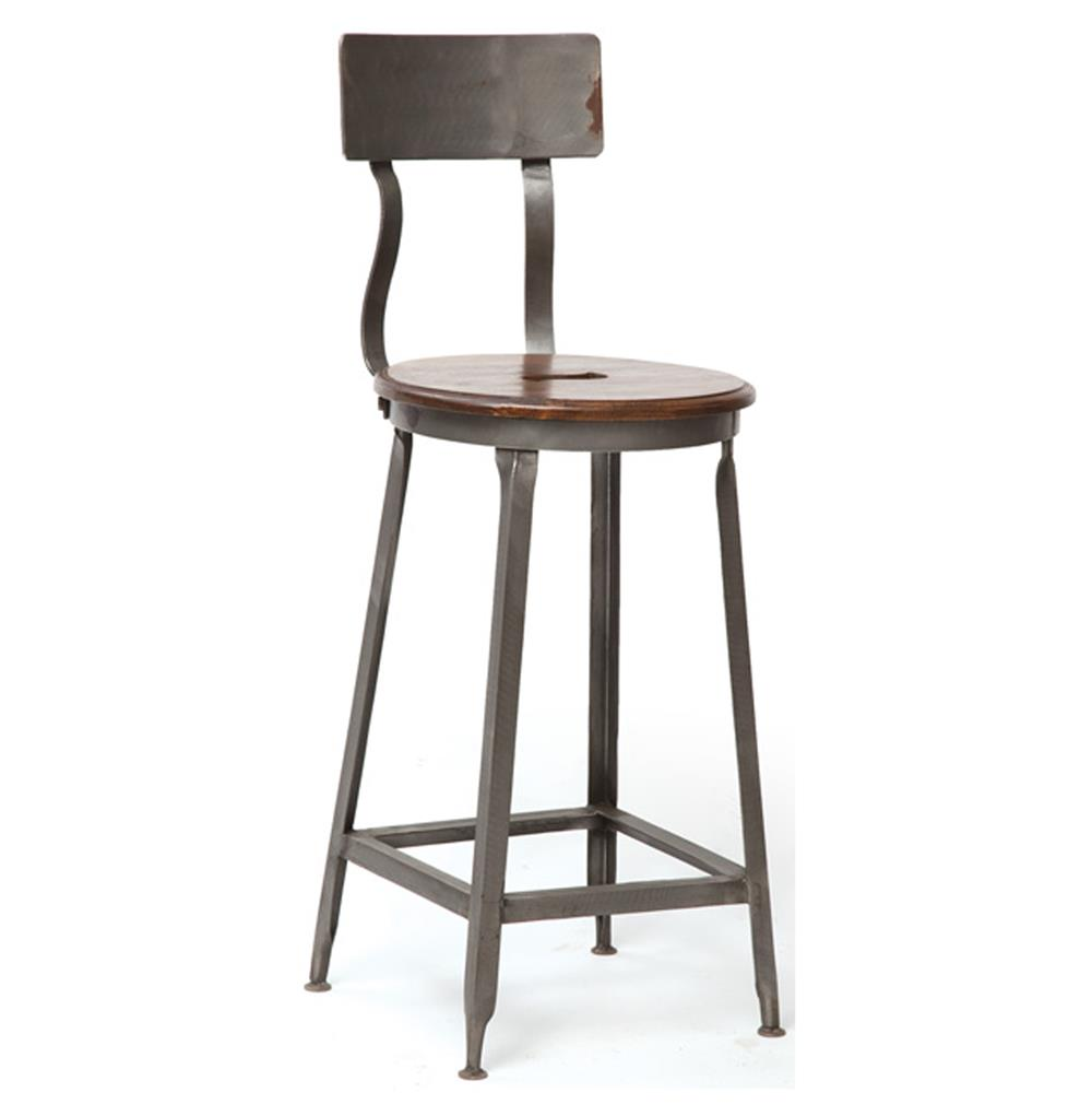 vintage steel industrial modern counter stool kathy kuo home