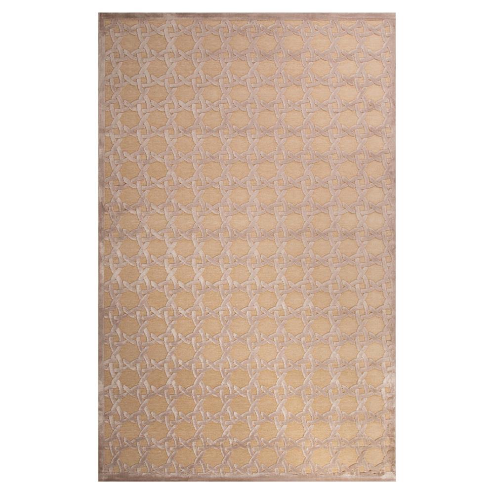 lynn regency luster lattice beige chenille rug