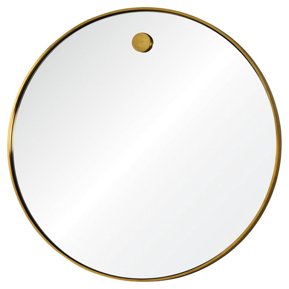 Lox Simple Modern Round Brass Mirror Kathy Kuo Home