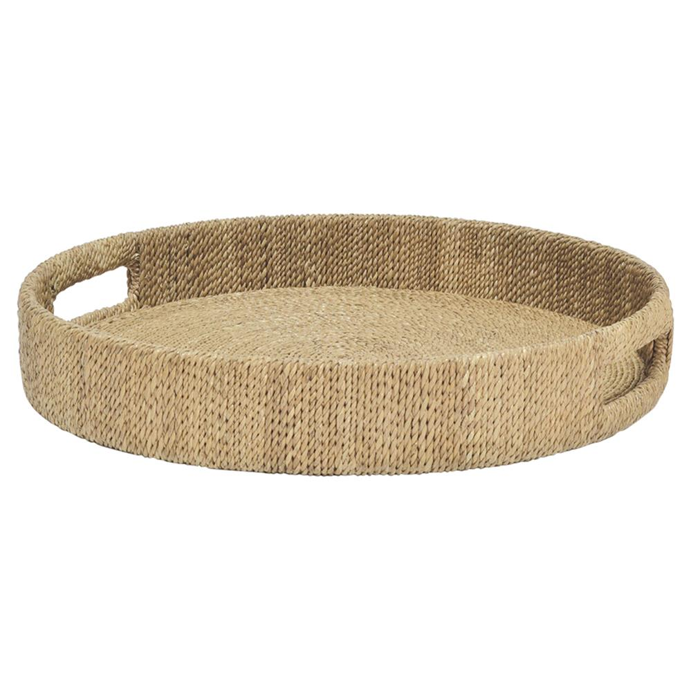 Palecek Monarch Coastal Wrapped Rope Seagrass Round Tray - S