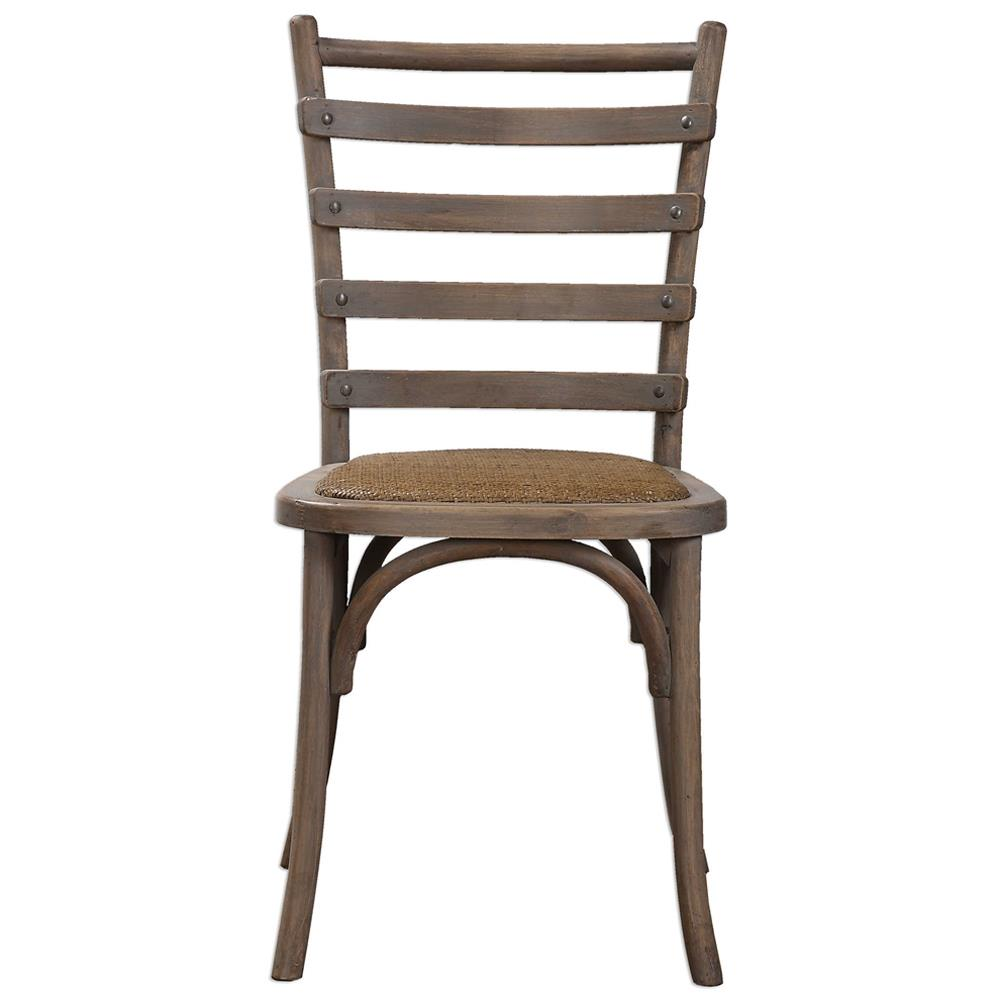 Selke Rustic French Rattan Ladder Back Side Chair Pair