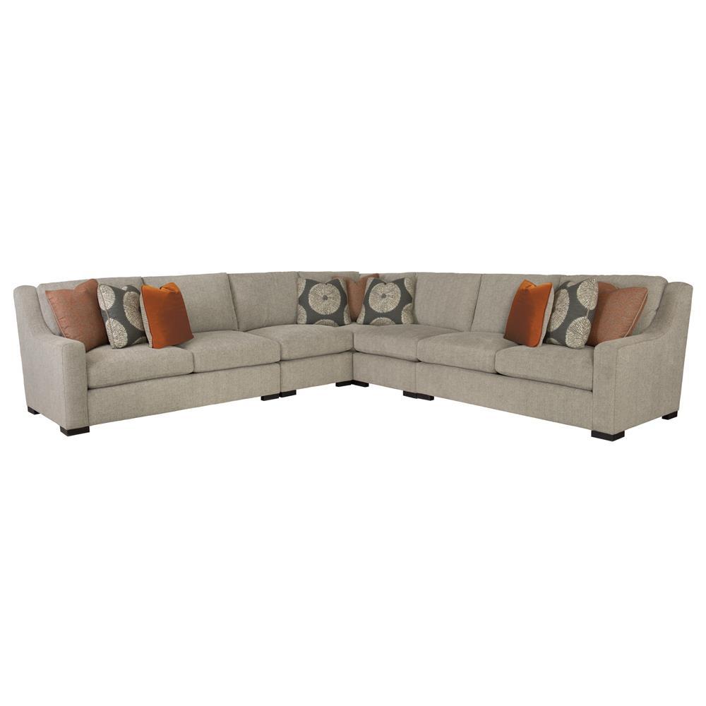 Denis Modern Classic Tweed Grey Sectional Sofa Kathy Kuo