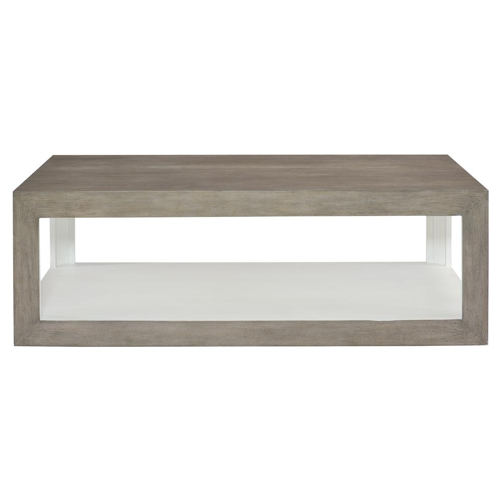 Marqua Coastal Rustic Grey Wood White Interior Coffee Table Kathy Kuo Home