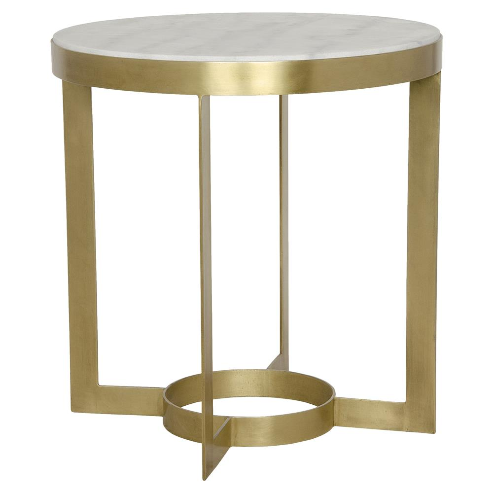 julen regency classic antique brass round stone end table. Black Bedroom Furniture Sets. Home Design Ideas