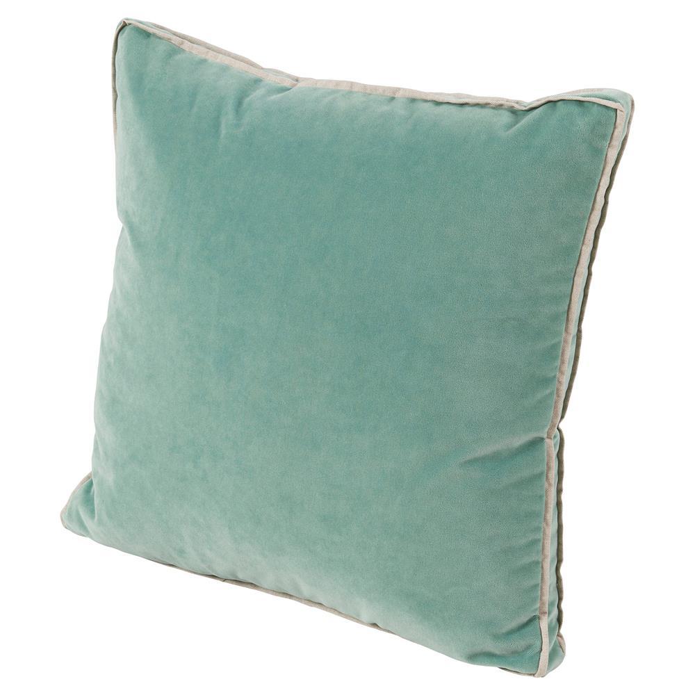 Tildy Classic Sea Green Velvet Linen Pillow 22x22