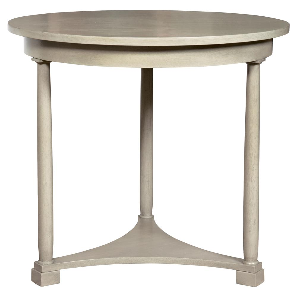 Luelle classic coastal ivory cedar side table kathy kuo home for Classic home tables