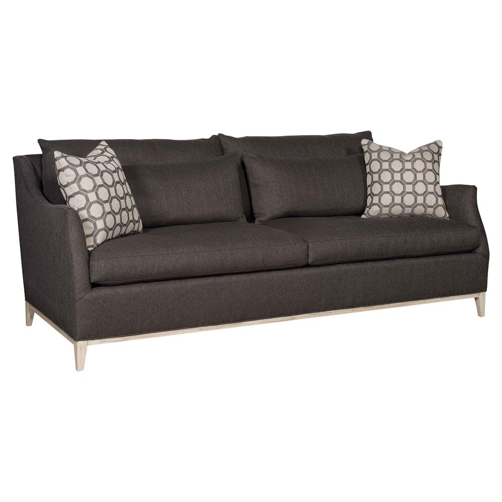 Merrigan industrial modern graphite grey french seam sofa for Sofa industrial