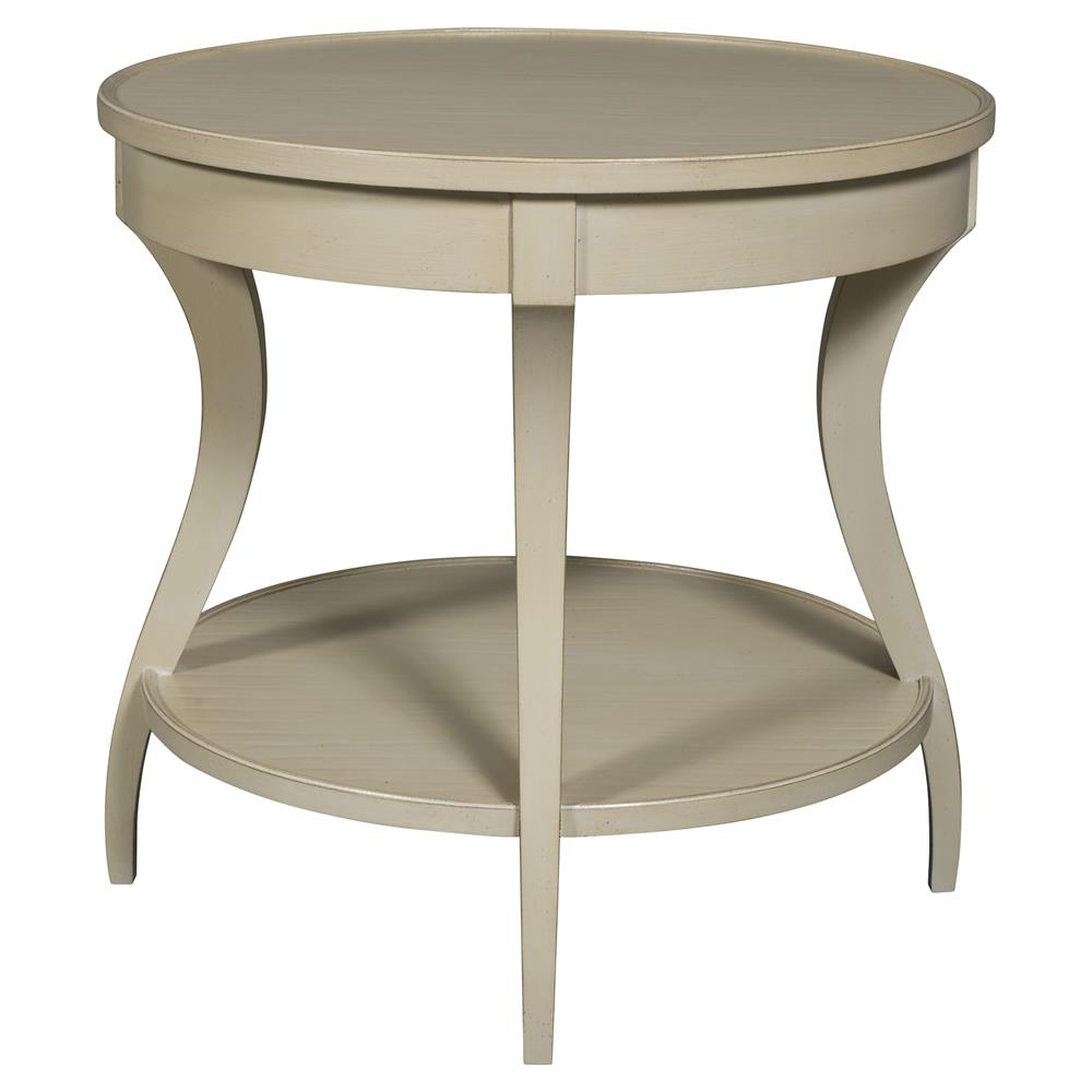 vanguard ella coastal rustic dune beige round wood end table. Black Bedroom Furniture Sets. Home Design Ideas