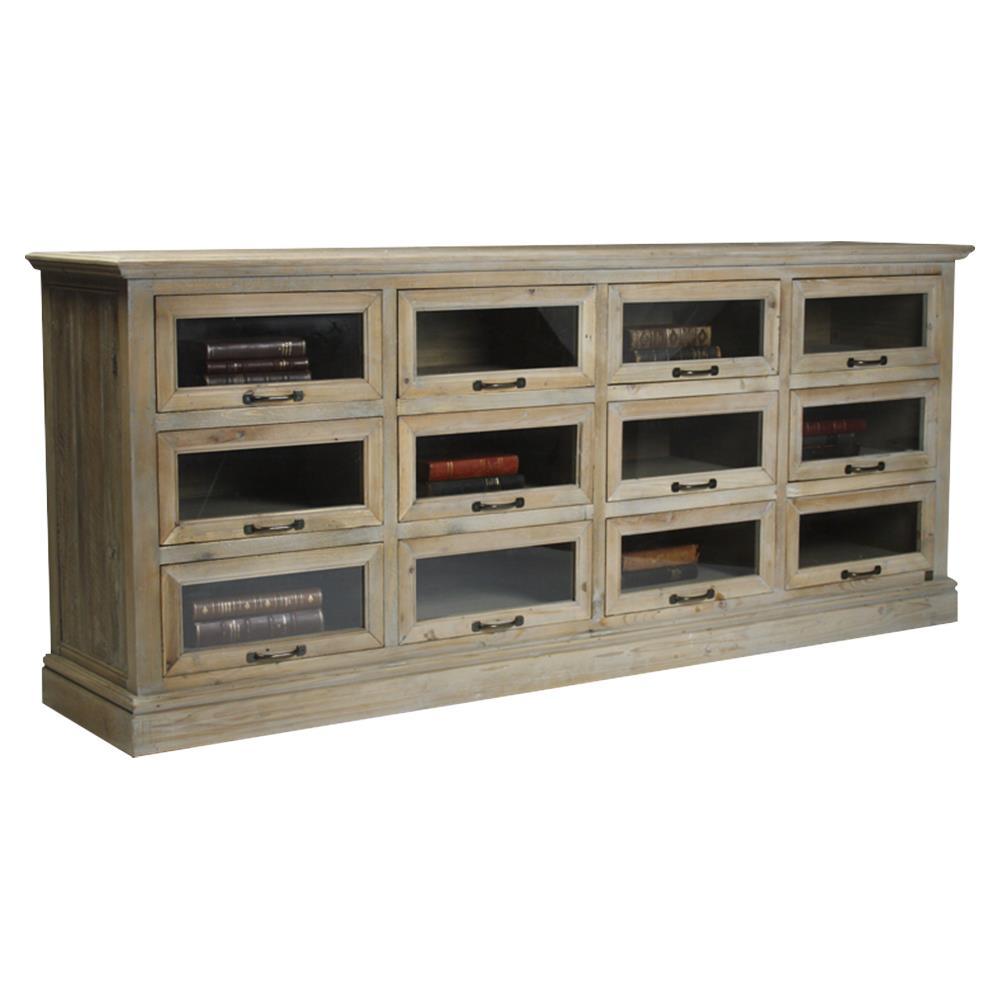 Battier reclaimed wood oak chest of drawers sideboard for Sideboard glasfront