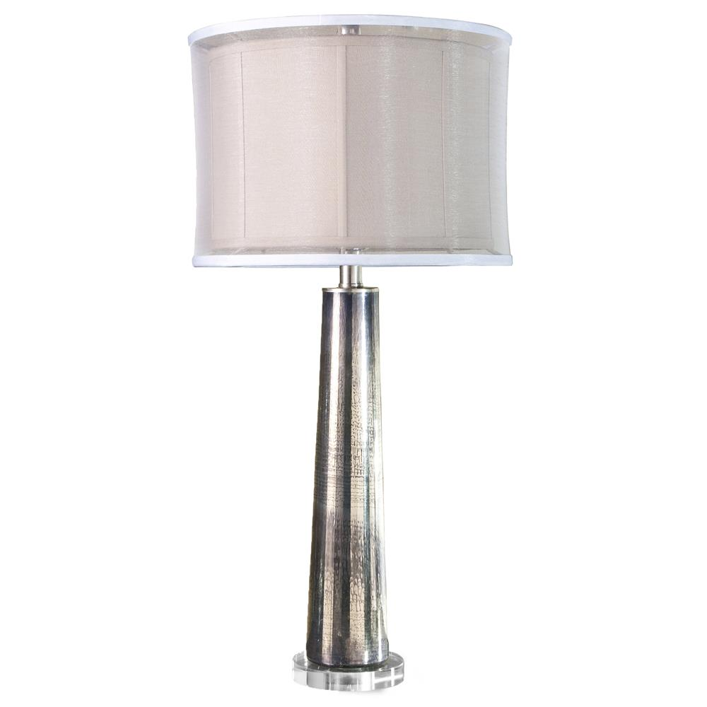 Silver Mercury Glass Contemporary Table Lamp