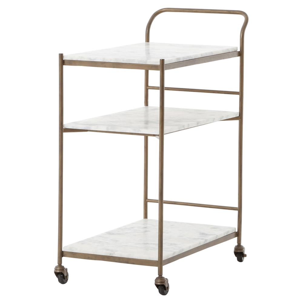 3 tier bar cart bathroom arianna modern brass 3tier marble large bar cart kathy kuo home