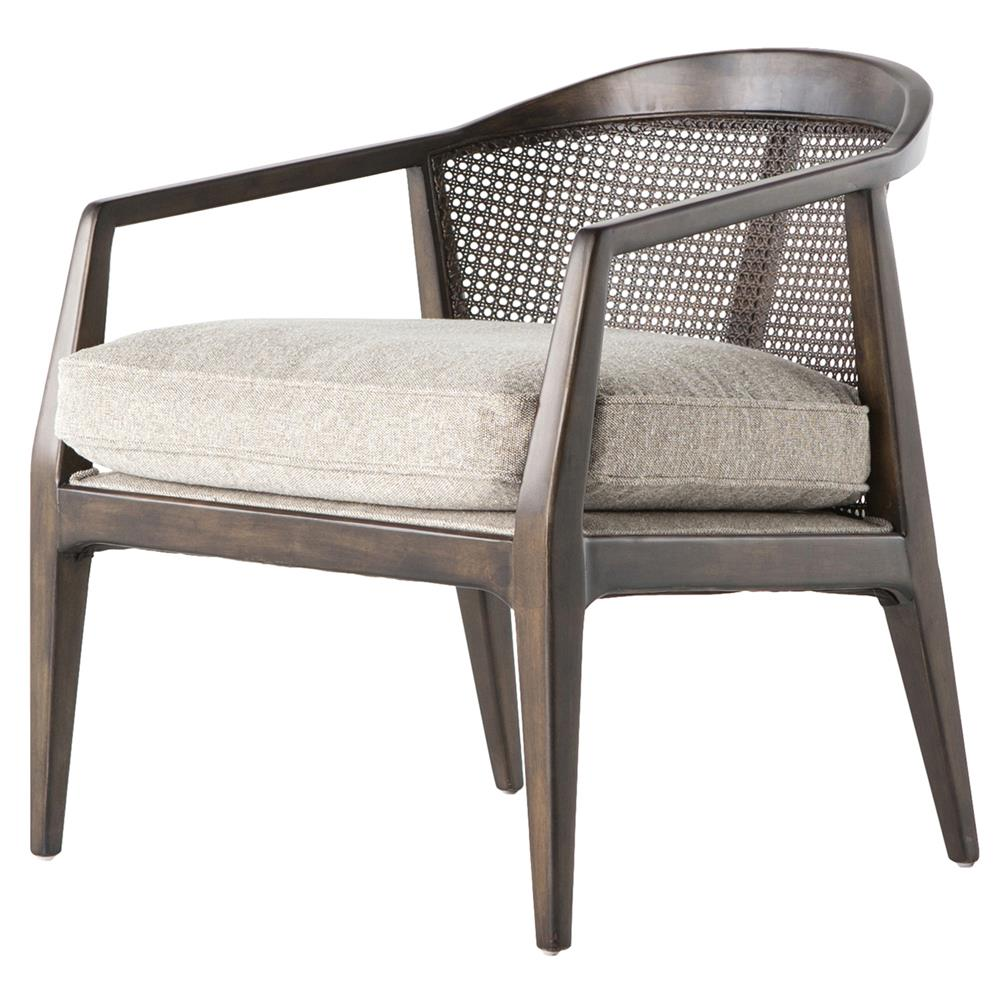 Pace mid century mid century birch rattan beige armchair kathy kuo home