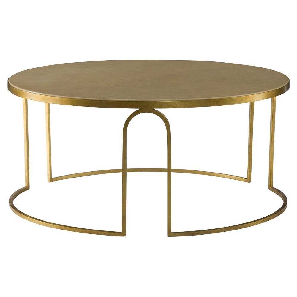 Gold Coffee Table Ornaments: Resource Decor Erica Regency Cream Vellum Gold Leaf Coffee