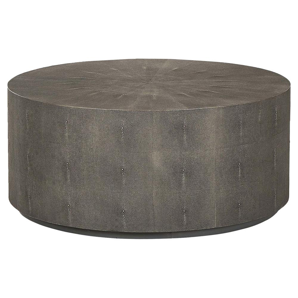 Maison 55 Braden Drum Regency Round Charcoal Shagreen Coffee Table | Kathy  Kuo Home ...
