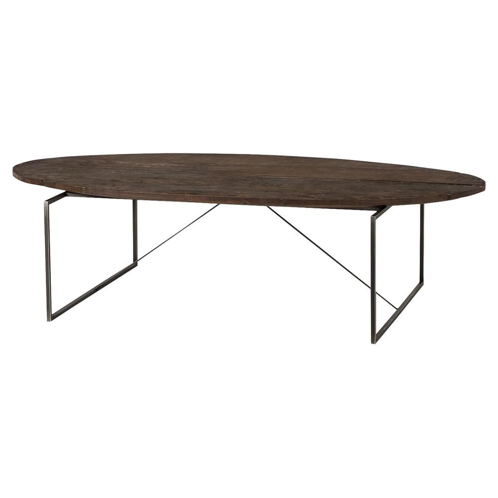 Derric industrial lodge peroba wood metal coffee table kathy kuo home Industrial metal coffee table